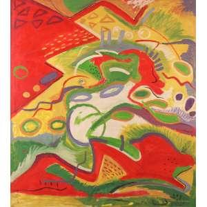 Ana Horta - Abstração - Acrílica sobre tela - 130 x 140 - 1986 - Ass. Verso