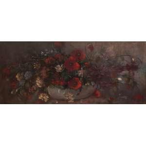 Anita Malfatti - Vaso de flores - Óleo sobre tela - 40 x 90 - 1945 - Ass. Canto inferior esquerdo