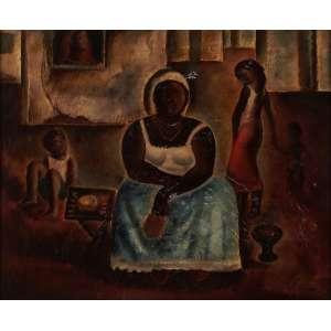 Orlando Teruz - Baianas - Óleo sobre tela - 54 x 65 - 1966 - Ass. Canto inferior direito e Verso