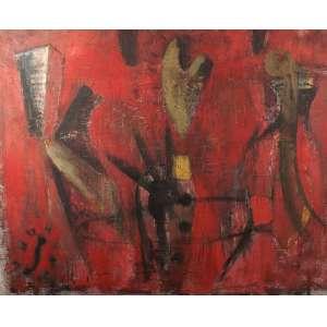 Daniel Senise - Sem Título - Óleo sobre tela - 160 x 192 - 1987 - Ass. Verso 25/12/1987