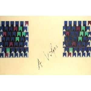 Alfredo Volpi - Bandeirinhas - Painel com duas obras do artista - 65 x 50 cada obra – Total do painel 105 x 160 - Déc. 70 - Assinado ao meio e no verso - Ex coleção da galerista Lygia Jafet SP