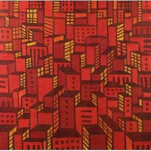 Cláudio Tozzi - Cidade - SP - Acrílica sobre tela - 80 x 80 - 2001 - Ass. No verso