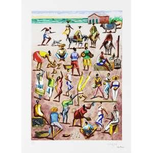 Hector Carybe<br />Folclore - Serigrafia póstuma - 70x50 cm - A.C.I.D (sem moldura)
