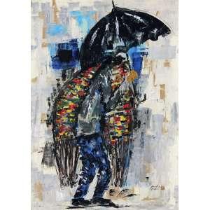 Moacir Andrade<br />Vendedor de redes - Óleo sobre cartão colado em placa - 65x46 cm - 1964 - A.C.I.D