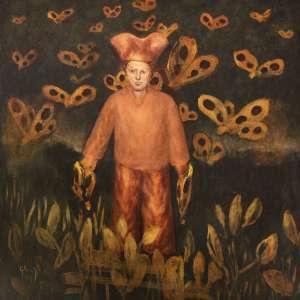 Mario Gruber<br />Fantasiado - Têmpera acrílica sobre tela - 62x62 cm - 2003 - A.C.I.E