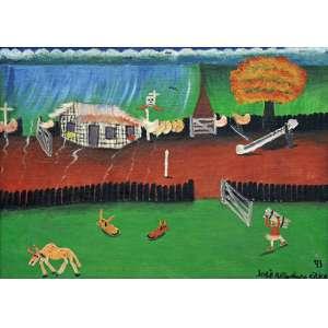 José Antonio da Silva<br />Fazenda - Óleo sobre tela - 50x70 cm - 1993 - A.C.I.D