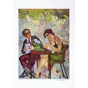 Juarez Machado<br />A datilógrafa - P.A. - Serigrafia - 70x50 cm - A.C.I.D (sem moldura)