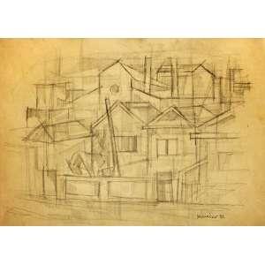 Manoel Martins Menacho<br />Casario - Grafite sobre papel - 32x45 cm - 1983 - A.C.I.D