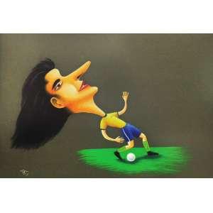 Roberto Magalhaes<br />Ataque - Pastel sobre papel - 65x95 cm - 2006 - A.C.I.E