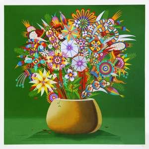 Roberto Magalhaes<br />Mil cores - Serigrafia - 70x70 cm - A.C.I.D (sem moldura)