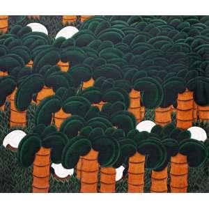 José Saboia<br />Colhedores entre palmeiras - Óleo sobre tela - 70x81 cm - A.V (no estado)
