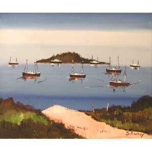 Sylvio Pinto<br />Ponta D'areia - Óleo sobre tela - 38x46 cm - A.C.I.D.