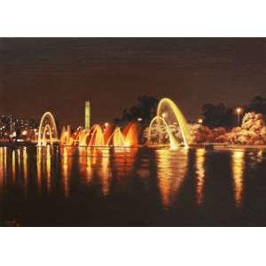 Carlos Eduardo Zornoff<br />Fontes do Ibirapuera - Óleo sobre tela - 50x70 cm - 2014 - A.C.I.E.