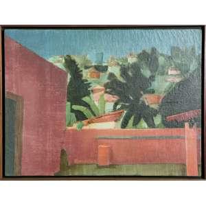 Ivan Marquetti, Muro Vermelho e Paisagem de Olinda, Óleo sobre tela, medindo 60x 81 cm, assinado, datado e localizado Olinda, 20.9.72.