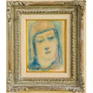 Guignard, Madona, Guache, medindo 33 x 35 cm, assinado e datado 1931, CIE. Reproduzido em Catálogo da Bolsa de Arte do Rio de Janeiro.