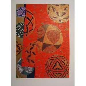 """WAKABAYASHI - Serigrafia """"Temari"""" 51/100, Medidas 50 X 70 CM, A.C.I.D, sem moldura. Acompanha certificado de autenticidade."""