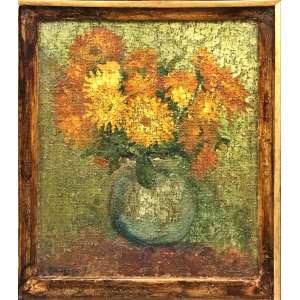 Sigaud, Vaso de Flores, Óleo sobre tela, 47 x 36 cm, assinado.