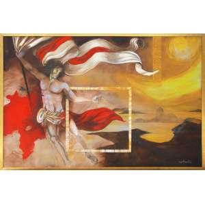 MARTINOLLI, Sérgio Franco (Trieste, Itália 1936)<br />Med: 100 x 130 cm.<br />Acrílica sobre tela<br />São Sebastião do Rio de Janeiro<br />