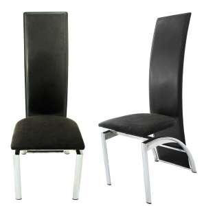 FRAG-ITALY- PRADAMANO- UDINE, Dal 1921- Lote com 8 cadeiras de espaldar alto em couro, estrutura em aço e assento em tecido. Medidas: 110x43x50 cm.<br />FONTES: http://www.frag.it/en/azienda/frag-dal-1921/<br />https://youtu.be/zNxjjbzztbc