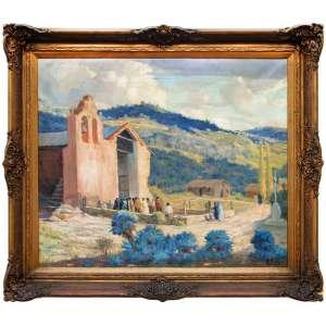 JOSÉ ROIG (Valência, Espanha 1898- Santa Fé, Argentina 1968)<br /> CAPILLA LAS PALMAS - CÓRDOBA - OST - 78X91cm.<br />Nasceu em Valência, Espanha, em 17 de fevereiro de 1898. Estudou na Academia San Carlos, com professores como José Renau, José Garnelo e Alda. Ele participou da oficina do grande Joaquín Sorolla, que influenciou sua pintura luminosa e serena com um espírito impressionista. Paisagista por excelência, suas obras propõem uma viagem para o nosso país e para a sua Espanha natal. Em 1929, ele chegou ao nosso país e adotou-o como seu. Em 1938 ele fez sua primeira exposição individual na Argentina. Ele também participou em numerosas ocasiões em salões e concursos provinciais e municipais. <br />Morreu em 29 de setembro de 1968, em Firmat, na província de Santa Fé, onde havia se estabelecido nos últimos anos de sua vida.<br />FONTE: https://www.zurbaran.com.ar/jose-roig/
