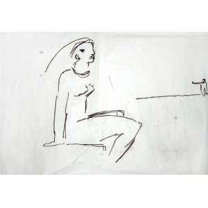 OSCAR NIEMEYER (RIO 1907-2012)<br />35 X 50 CM.<br />DESENHO ASSINADO.<br />NU FEMININO<br />Certificado emitido por Oscar R. A. Niemeyer S. Netto.