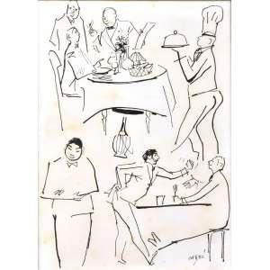 MODERNISMO LATIN AMERICA<br />CARYBÉ - Hector Julio Páride Bernabó <br />Lanús, Argentina 1911 — Salvador, BA 1997<br />Nanquim<br />Med: 29 x 22 cm/ 55 x 46 cm.<br />Cenas em uma Cantina Italiana.<br />Charge, Caricatural, Storyboard - Atribuído aos anos 1950-60<br /><br />Artista homenageado com Sala Especial na VI Bienal Internacional de Arte de São Paulo.<br /><br />Possui um dos mais vastos e prestigiados currículos da historia da arte no Brasil, que torna-se impossível resumir em importância. Desta feita sugerimos que copie e cole esse link:<br />https://pt.wikipedia.org/wiki/Carybé