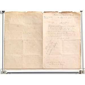 """Descrição do documento: Carta do Ministério dos Negócios da Fazenda escrita para o presidente da província do Piauhy comentando um artigo do jornal O DIÁRIO DO RIO DE JANEIRO (o primeiro jornal diário a ser publicado no país a partir de 1 de junho de 1821), acerca do discurso do SENADOR DE PARANAGUÁ. Datada em 7 de julho de 1873 e assinada pelo então ministro da fazenda e presidente do conselho de ministros JOSÉ MARIA DA SILVA PARANHOS, O VISCONDE DO RIO BRANCO, pai de JOSÉ MARIA DA SILVA PARANHOS JÚNIOR, O BARÃO DO RIO BRANCO. <br /><br />Transcrição do documento:<br />Ministério dos Negócios da Fazenda<br />Rio de Janeiro 7 de junho de 1873<br /><br />.......<br />Transmito a Vs. Ex.a o exemplar ... os """"Diário do Rio de Janeiro """"de hoje , a fim de que temos em vista o discurso o Sr. Senador de Paranaguá, ..... no mesmo diário, relativamente às fazendas mencionadas existentes ... província, se sirva prestar-mo as informações que puder sobre semelhante ....<br />Deus Grande a V. Ex.a<br />VISCONDE DO RIO BRANCO<br />.... Presidente da província do Piauhy<br /><br />MEDIDAS: 35,5 x 36 cm.<br /><br />"""