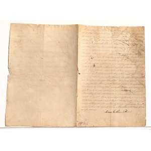 Descrição do documento: <br />Ofício datado de 1825, escrito por JOAQUIM PEREIRA DE CAMPOS e assinado por MARIANO JOSÉ PEREIRA DA FONSECA, O MARQUÊS DE MARICÁ. Escrito em nome do IMPERADOR DOM PEDRO I, o documento objetivava recolher aos cofres públicos emolumentos do império citando a nova constituição de 1824 que entrava em vigor e a constituinte de 1823 que estabelecia a soberania das leis criadas por DOM PEDRO I desde 1821.<br /><br />O nome de MARIANO JOSÉ PEREIRA FONSECA consta na lista dos conspiradores da INCONFIDÊNCIA CARIOCA em 1771, que foi um movimento de intelectuais da Academia Científica do Rio de Janeiro onde se discutiam assuntos filosóficos e políticos, semelhantemente ao que ocorria na Europa na mesma época; Após sua juventude liberal, Mariano Fonseca se torna conservador e assume diversos cargos no serviço régio a partir de 1808. Declarada a INDEPENDÊNCIA DO BRASIL foi Ministro Secretário de Estado dos Negócios da Fazenda, Conselheiro de Estado e SENADOR DO IMPÉRIO DO BRASIL da primeira até a sétima legislatura. Como agradecimento por seu trabalho como UM DOS REDATORES DA CONSTITUIÇÃO DE 1824 foi agraciado por DOM PEDRO I com o título de VISCONDE DE MARICÁ em 1825 e elevando-se à MARQUÊS no ano seguinte.<br /><br />Transcrição do documento:<br /><br />Mariano José Pereira da Fonseca, do Concelho de estado de sua Majestade Imperial, Ministro e Secretário de estado dos Negócios da Fazenda, e Presidente do Tesouro publico. Faço Saber á junta da fazenda pública da provincia do piauhy: Que sua Majestade O Imperador, por sua imediata resolução{...}<br /><br />{...} MARIANO JOSÉ PEREIRA DA FONSECA.<br /><br />VERSO:<br /><br />Cumpra-se e resgiste-se. O... do Piauhy 11 de junho de 1825= 4º da Independencia do Império<br /><br />LUIZ P. BARATA, MANUEL LUIS OSÓRIO<br /><br />Redigida ap..26.. do logo de ordens Imperiaes Secretaria da junta de Ordens do Piauhy, 8 de junho de 1825.<br /><br />No verso o documento é assinado por MANUEL LUIS OSÓRIO, O MARQUÊS