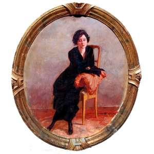 ANTONIO ROCCO (Amalfi, Itália, 1880 - São Paulo, SP, 1944)<br />Óleo sobre tela.<br />Medidas: 56 x 50 cm.<br />OVAL<br />Modelo vivo.<br /><br />BIOGRAFIA: <br />De 1899 a 1905 estudou no Instituto de Belas Artes de Nápoles. <br />em 1908 participa da Bienal de Turim<br /><br />Em 1913 imigrou para o Brasil, estabelecendo-se na capital paulista. <br /><br />Em 1918 fez sua primeira individual no salão do palacete do conde Prates.<br /><br />Em 1918 a Pinacoteca do Estado de São Paulo adquire uma tela de sua autoria.<br /><br />Em 1918, fundou a Escola Novíssima, onde lecionou pintura durante três anos. <br /><br />Em 1919, passa seis meses na fazenda do empresário Oscar Souza Pinto, em São Carlos do Pinhal, onde pinta paisagens, animais e cenas do cotidiano. <br /><br />Participa de várias edições do Salão Nacional de Belas Ates no Rio de Janeiro e do Salão Paulista de Belas Artes. <br /><br />Em 1928 integra a exposição do Grupo Almeida Júnior, no Palácio das Arcadas, em São Paulo. <br /><br />Em 1928 integra a 2ª Exposição Provincial de Salerno, Itália. <br /><br />Foi professor de vários artistas paulistas e fez parte de um grupo de artistas que se debruçaram sobre o tema da imigração e que compõem um amplo movimento de representação da realidade buscando a objetividade. Pobreza, fome, miséria e trabalho são alguns dos cenários escolhidos para retratar a vida humana, muitas vezes no seu limite, à margem da cultura burguesa ascendente na Europa e em suas colônias. Assim, a imigração era potencialmente um terreno para a arte chamada naturalista. <br /><br />