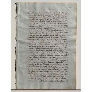 """Documento escrito à mão, cujas palavras estão atribuídas a DOM JOÃO VI sendo mencionado no documento como """"Eu o PRÍNCIPE REGENTE faço saber {...}"""", e datado do ano de 1811, período no qual o monarca encontrava-se no Brasil (Até então REINO UNIDO DE BRAZIL PORTUGAL E ALGARVES) e 5 anos antes de ser coroado REI. O documento aparenta fazer parte de um complexo maior escrito em formato de ata, cujas folhas são enumeradas ''373'', ''374'' e ''375'' escritas em frente e verso apresentando 3 textos distintos, além de uma página não numerada em branco. As páginas são do papel italiano GIOR MAGNANI (autenticado por sua marca d'agua que ostenta seu brasão e nome), esta marca era muito bem quista pelos nobres da época e para redigir documentos oficiais. Tanto, em 1810 o famoso papel produzido por Cartieri Magnani foi utilizado por NAPOLEÃO BONAPARTE em seus convites de casamento real com Maria Luiza da Áustria. <br /><br /><br /><br />O documento ostenta passagens:<br /><br />""""Eu o Príncipe Regente faço saber aos que este alvará virem:{...}""""<br /><br />""""{...} Aos 23 de Julho de 1811 = Foi proposto que havendo variedade de julgar quando alguns dos devedores {...}""""<br /><br /><br />Papel com marca d'agua: GIOR MAGNANI e Brasão.<br /><br />Quatro Folhas<br /><br />MEDIDAS: 29 x 20,5 cm.<br />"""