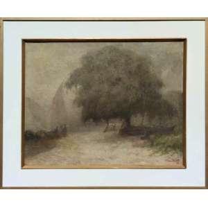 ESCOLA NACIONAL DE BELAS ARTES - MEDALHA DE OURO / PREMIO VIAGEM<br /><br />PEDRO BRUNO (1888 - 1949) <br />Saída dos pescadores na madrugada.<br />66 x 81cm. /88x104 c<br />Datado 1941<br />Obra impressionista ao estilo da obra de Claude Monet: Sun in the Mist, de 1891<br /><br />Em 1897, conheceu o pintor Giovanni Battista Castagneto, de que tornou-se discípulo.<br />Em 1905, com voz de barítono. aos quatorze anos, foi estudar no Conservatório de Nápoles e de Roma, retornando diplomado em canto lírico, trabalhou no Conservatório de Música do Rio de Janeiro.<br />Autodidata, em 1912, recebeu a Medalha de Bronze, do Salão de Belas Artes.<br />Em 1918 ingressou na Escola Nacional de Belas Artes e estudou com o grande mestre Baptista da Costa.<br /><br />Em 1919, feito inédito, em apenas um ano de estudo o Conselho Superior de Belas Artes conferiu-lhe o Prêmio de Viagem da 26ª Exposição Geral.<br /><br />Em 1920, ao chegar em Roma, bruno inscreveu-se para a prova de admissão ao curso de pintura da Academia Inglesa, famosa instituição de ensino artístico classificando em 3º lugar. Decorridos apenas seis meses de sua matrícula, já era convidado pelos dirigentes da instituição para reger aulas de modelo vivo.<br />Na Itália, estão vários quadros, dois no Museu de Salerno e em galerias particulares.<br /><br />De volta ao Brasil em 1922, ano de seu regresso, conquistou a Medalha de Ouro do Salão de Belas Artes.<br /><br />Em 1924, pintor foi grande colaborador do Salão Paulista de Belas Artes até o ano anterior ao de sua morte. Em retribuição, dentre outras homenagens, a Prefeitura da Cidade de São Paulo batizou com seu nome uma rua do bairro de Butantã.<br /><br />O último grande trabalho de bruno foi a tela Gonçalves Dias, pintada no ano anterior ao de sua morte. Em 1948, Pedro recebeu a maior homenagem em vida: um busto seu foi erguido na praça que leva seu nome. A obra, idealizada por Paulo Mazucheli, tem como legenda: O poeta da cor, das árvores e dos pássaros.<br />