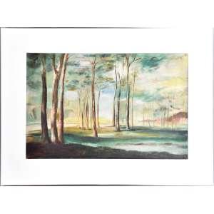 """ENRICO BIANCO (Roma, Itália, 1918 - Rio de Janeiro, 2013)<br />Raríssima obra da década de 1930.<br />Óleo sobre tela<br />Paisagem com árvores.<br />Medidas: 64 x 99 cm, na moldura 97 x 131cm.<br /><br />CONSTA DE FARTA DOCUMENTAÇÃO ANEXADA PELO ANTERIOR PROPRIETÁRIO:<br />1) Declaração de reconhecimento de autoria por Enrico Bianco em 01/09/1998.<br />2) Reproduzido em cores no catálogo do 45 Leilão H. Stern-R. Visconde de Pirajá, 490. Leiloeiro: N.M. Khoury - Novembro, 1998.<br />3) N.F. de compra em 10/11/1998. N.F. de prestação de Serviços do leiloeiro oficial, na mesma data.<br />4) Recortes de jornais, O Globo, com matérias sobre o pintor.<br />5) DA RARIDADE: Quando da elaboração do livro BIANCO- Léo Christiano Editorial Ltda. em 1982.<br />Somente 25 das 1.380 obras, então catalogadas para a confecção do livro, são atribuídas a década de 1930.<br />Melhor amigo, compadre e principal auxiliar de Candido Portinari, trabalhou nas obras do Instituto de Artes da Universidade do Distrito Federal - UDF, nos murais do Ministério da Educação e Cultura - MEC, os painéis do Banco da Bahia, além do Painel Guerra e Paz no edifício da ONU, e etc...<br /><br />Participou da I Bienal de São Paulo, em 1951.<br /><br />Realizou exposições em diversos países como: México, Portugal, Itália, Estados Unidos, Israel e França.<br /><br />Bianco pintou especialmente paisagens e cenas do campo, num trabalho que evoca a tradição do """"saber fazer"""" dos grandes pintores, pelo esforço incessante e a elaboração técnica.<br /><br />Em 1937 veio para o Brasil, fixando-se no Rio de Janeiro.<br /><br />No fim da década de 30, ligado desde então a Portinari, trabalha como assistente na execução dos murais para o antigo Ministério da Educação e Saúde, no Rio de Janeiro. <br /><br />Auxiliou Portinari na pintura dos painéis Guerra e Paz para a sede da ONU, em New York. <br /><br />Enrico Bianco participou do grupo de intelectuais composto por Mário de Andrade, Manuel Bandeira, Carlos Drummond de """