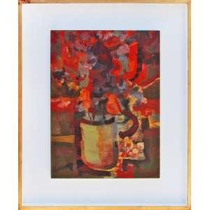 ENRICO BIANCO (Roma, 1918 - Rio de Janeiro, 08 de março de 2013) <br />Vaso de Flores – OSM – 55 x 40 – 1966 – ACID
