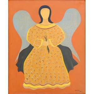 DJANIRA da Motta e Silva (1914 - 1979) - Santa - Óleo s/ tela - ass. inf. direito e verso - 1964 - 57 x 47 cm <br />Procedência Galeria TNT - Rio de Janeiro