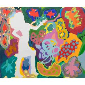 MARIA LYNCH (1981) <br />Feliz Feliz, 2013 <br />Óleo e Acrílica s/tela<br />Ass. verso <br />Apresenta certificado de autenticidade emitido por Roberto Alban Galeria de Arte <br />Medidas: 160 x 190 cm.<br /><br />Suas principais exposições:<br />The Jerwood Drawing Prize, mostra itinerante em Londres e pela Inglaterra em 2008. <br />Nova Arte Nova no CCBB do Rio de Janeiro. <br />Nova Arte Nova no CCBB de São Paulo. <br />Em 2010 ela foi contemplada com o prêmio FUNARTE Marcantônio Vilaça. <br />Em 2011 ela foi convidada para a sexta bienal de Curitiba, Vento Sul. <br />Em 2012 exibiu a instalação Ocupação Macia, no museu do Paco Imperial, no Rio de Janeiro e a performance Incorporáveis, no Museu de Arte do Rio de Janeiro. <br />Convidada para Mostra de Jogos da Olimpíada de Londres, no Barbican Centre. <br />Em 2013 exposição na galeria Anita Schwartz no Rio de Janeiro, <br />Exposição Bordalianos do Brasil na Fundação Calouste Gulbenkian em Lisboa Portugal. <br />Exposição no Storefront for Art and Architecture, em Nova Iorque, Estados Unidos.