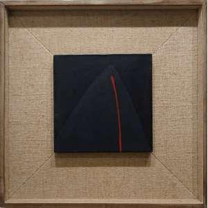 Tomie Ohtake (Quioto, Japão 1913 — São Paulo, 2015)<br />30x30 cm.<br />Óleo sobre tela<br />Preto