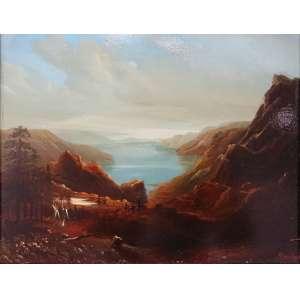 """Albert Bierstadt ( 1830-1902 )<br />MEDIDAS: 24 x 30 cm./ 48x54 cm.<br />TEMÁTICA: o.s.m.<br />TEMÁTICA: Rocky Mountains<br />MOLDURA: sob medida, madeira laqueada e folha ouro.<br />Cotação internacional media: € 100.000 / 300.000<br />____Albert Bierstadt foi um dos mais proeminentes e influentes pintores de paisagens americanas do século XIX. Fazia pinturas detalhadas das Montanhas Rochosas e Serra Nevada, foi o primeiro a pintar a grandeza do oeste americano.<br />Nascido perto de Dusseldorf, Alemanha, Bierstadt emigrou, com sua família, aos dois anos de idade para New Bedford, Massachusetts. <br />Só voltou a Dusseldorf aos 21 anos. Estudou na famosa """"Royal Academy"""", sob a tutela de Andreas Aschenbach e Friedman Karl Lessing, aprendeu os princípios da Escola de Dusseldorf, caracterizada pela atenção aos detalhes, exagerados efeitos atmosféricos, e composições heróicas, uma combinação perfeita para aumentar o apelo romântico da paisagem.<br />Durante seus quatro anos de estudo, Bierstadt viajou extensivamente pela Europa, desenhando e pintando com os amigos americanos que também estudaram na Academia Real incluindo Sanford Gifford, Leutze Emanuel, e Whittredge Worthington. Ao aperfeiçoar suas habilidades no elitista panorama europeu, Bierstadt retornou a New Bedford em 1857, para posteriormente viajar às montanhas brancas de New Hampshire, onde encontrou grande inspiração artística. No ano seguinte, expôs pela primeira vez na Academia Nacional de Design, em Nova York, expondo catorze quadros com temas da europeus e americanos. <br />Em 1860, tornou-se membro pleno, acadêmico, da Academia Nacional Americana. Neste ano, Bierstadt, veria pela primeira vez as paisagens que se tornariam a peça central de sua carreira e ajudariam a tornar-se o mais famoso e prestigiado artista americano do século XIX. Anexando-se a uma expedição militar designada para pesquisa das rotas nas Montanhas Rochosas do Wyoming. Bierstadt não só revelou, por meio de suas pinturas, a vastidão """