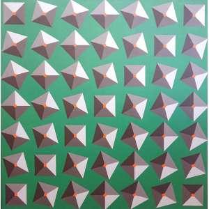 Luiz Sacilotto (Santo André SP 1924 - São Bernardo do Campo SP 2003).<br />C 8464<br />Medidas: 100 x 100 cm.<br />TÊMPERA RHODOPAS SOBRE TELA<br />REPRODUZIDO NO LIVRO AUDÁCIA CONCRETA, PÁGINA 57<br />MUSEU OSCAR NIEMEYER - CURITIBA - PR