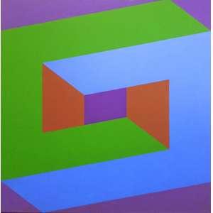 Luiz Sacilotto (Santo André SP 1924 - São Bernardo do Campo SP 2003)<br />C 8690<br />Medidas: 100 x 100 cm.<br />TÊMPERA VINÍLICA SOBRE TELA<br />REPRODUZIDO NO LIVRO AUDÁCIA CONCRETA, PÁGINA 59<br />MUSEU OSCAR NIEMEYER - CURITIBA - PR