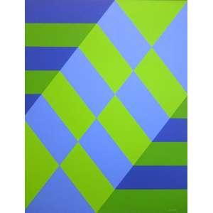 Luiz Sacilotto (Santo André SP 1924 - São Bernardo do Campo SP 2003)<br />C 9991<br />Medidas: 90 x 70 cm.<br />ACRÍLICA SOBRE TELA<br />REPRODUZIDO NO LIVRO AUDÁCIA CONCRETA, PÁGINA 78<br />MUSEU OSCAR NIEMEYER - CURITIBA - PR