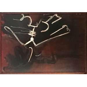 IBERÊ CAMARGO<br />Semeadores, Rio de Janeiro 1964 - <br />Guache sobre cartão.<br />Ano da icônica exposição da Galeria Bonino - RJ. (vide fotos) <br />Medidas: 100 x 70 cm.<br /><br />(...) O homem pintor era também aquele que se interessava e se dedicava à formação de jovens artistas. Iberê contava a PARÁBOLA DO SEMEADOR, presente na Bíblia, para referir-se às atividades que desenvolveu como formador, principalmente como professor, mas, também, como autor de livro didático, instrutor de ateliê para presidiários e palestrante. Dizia ele que foi um SEMEADOR LOUCO, espalhando sementes sobre todos os tipos de terreno, sendo que haviam germinado as que caíram em solo fértil. Em 1955, ele escreveu apostilas para seus alunos sobre aspectos técnicos da gravura. As apostilas foram publicadas como livro vinte anos depois, e é válido até hoje por cobrir todas as maneiras da gravura em metal e pela generosidade de Iberê, ao disponibilizar aos iniciantes informações minuciosas, complementadas por imagens de todos os instrumentais empregados.<br />FONTE: http://iberecamargo.org.br/site/uploads/multimediaExposicao/ec1808201642aae767.pdf