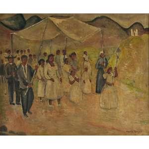 Anita Malfatti (São Paulo,1889-1964) <br />Procissão (Dec. 40) <br />Medidas: 48 x 57,5 cm. <br />Óleo sobre tela