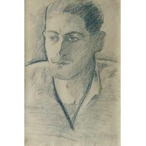 Aldo Bonadei (São Paulo, São Paulo, 1906 - Idem, 1974).<br />Retrato (1930)<br />Medidas: 32,8 x 21,9 cm.<br />Grafite sobre papel