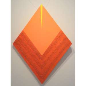Hércules Barsotti (São Paulo SP 1914 - idem 2010)<br />Geométrico (2002)<br />Medidas: 80 x 60 cm.<br />Acrílica e areia sobre tela