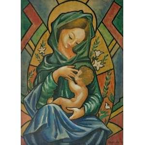 Antonio Gomide (Itapetininga SP, 1895 - Ubatuba SP, 1967)<br />Maternidade (1940)<br />Medidas: 50 x 35 cm.<br />Aquarela sobre cartão