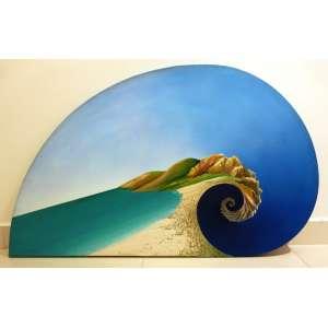 Antonio Peticov (Assis,SP, 1946)<br />O mar (2008)<br />Medidas: 72 x 119 cm.<br />Acrílica sobre tela