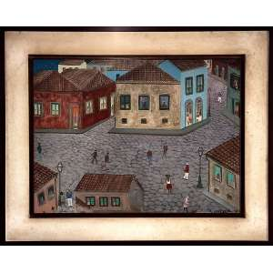 Carlos Lousada(Rio de Janeiro, 1905 - 1984)<br />Chegada dos marinheiros<br />O.S.M.<br />Datado: 1970<br />Medidas: 77,3 x 57,3 cm. / 102,5 x 82 cm.<br /><br /><br />Participou da 1ª Bienal Nacional de Artes Plásticas 28-12-1966 no Convento de Nossa Senhora do Carmo. Igreja (Salvador, BA)<br /><br />Do 17º Salão Nacional de Arte Moderna em 1968 no Museu de Arte Moderna do Rio de Janeiro<br />Do 18º Salão Nacional de Arte Moderna em 1969 no Museu de Arte Moderna do Rio de Janeiro<br />Do 19º Salão Nacional de Arte Moderna em 1970 no Museu de Arte Moderna do Rio de Janeiro<br /><br />Exposição O Mar em 1974 na Galeria Ibeu, Copacabana, Rio de Janeiro, RJ<br /><br />Exposição Gente da Terra em 1980 no Paço das Artes<br /><br />Exposição Pop Brasil: a arte popular e o popular na arte em 06-07-2002 no Centro Cultural Banco do Brasil (CCBB)<br /><br />Exposição Encontros e Reencontros na Arte Naïf - Brasil-Haiti em 2005 no Centro Cultural Banco do Brasil de Brasilia, DF , d São Paulo, SP e no Museu de Arte Brasileira - MAB na FAAP de SãoPaulo.<br /><br />Exposição Arte brasileira e internacional na Coleção Boghici em 2013 no Museu de Arte do Rio (MAR)<br /><br />Citado nos livros:<br />Aspectos da pintura primitiva brasileira. Tradução Richard Spock. Apresentação Geraldo Edson de Andrade. Rio de Janeiro: Spala, 1978. 195 p.<br /><br />Pop Brasil: arte popular e o popular na arte. Curadoria Paulo Klein; tradução João Moris, Beatriz Karan Guimarães, Maurício Nogueira Silva; texto Paulo Klein, Jean Boghici, Ladi Biezus et al. São Paulo: CCBB, 2002. 130 p.<br /><br />GENTE da Terra. Texto de Lourdes Cedran. São Paulo: Paço das Artes, 1980.<br /><br />IBEU em 60 Obras Selecionadas. Rio de Janeiro: Ibeu, 1994.<br /><br />LEITE, José Roberto Teixeira. Dicionário crítico da pintura no Brasil. Rio de Janeiro: Artlivre, 1988.<br /><br />LOUZADA, Júlio. Artes Plásticas: seu mercado, seus leilões. São Paulo: Júlio Louzada, 1997.<br /><br />A ARTE Naif no Brasil. São Paulo: Empresa d
