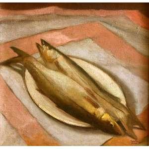 """TOMÁS SANTA ROSA (João Pessoa PB 1909 - Nova Délhi, Índia 1956). <br />O.S.T. 59X61 CM.<br />PEIXES, 1946<br />Personagens de teatro (com desenho no verso) e Perfil de Mulher Surrealista (aquarela) Rio de Janeiro, décadas de 1940/50. Santa Rosa foi grande artista e personagem de sua época, porque realizou obra de grande visibilidade como ilustrador de livros e cenógrafo de teatro. Ilustrou mais de 200 livros só para a editora José Olympio, dos melhores autores da época. E no teatro, entre incontáveis produções, fez a premiada e inesquecível cenografia da peça """"Vestido de Noiva"""", de Nélson Rodrigues."""