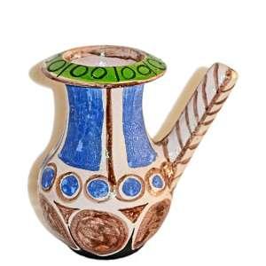 ALDEMIR MARTINS ( Ingazeiras, CE, 1922 — São Paulo,2006)<br />Vaso/Bule em cerâmica pintada e assinada. SP, 1964. <br />21x14x14 cm.