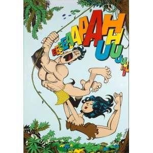 """Ziraldo<br />""""Tarzan e Jane""""<br />Acrílica sobre tela<br />Medidas: 190 x 130 cm.<br />2017<br /><br />Em 1954 começou no jornal Folha da Manhã, atual Folha de S.Paulo. <br />Rm 1957 estava na revista O Cruzeiro <br />Em 1963 no Jornal do Brasil<br />Em 1960 lançou a primeira revista em quadrinhos brasileira feita por um só autor, alcançando uma das maiores tiragens da época. Em 1986 a Editora Primor relançou e na década de 1990 novamente a Editora Abril relança em forma de almanaque.<br />Em 1960, no 32º Salão Internacional de Caricaturas de Bruxelas, recebeu o Nobel Internacional de Humor <br />Em 1960 recebeu o prêmio Merghantealler, principal premiação da imprensa livre da América Latina.<br />Foi fundador e posteriormente diretor do periódico O Pasquim.<br />Em 1980, lançou o livro O Menino Maluquinho, maior sucesso editorial, mais tarde adaptado para televisão e cinema. <br />Ilustrações de Ziraldo já figuraram em publicações internacionais como as revistas Private Eye da Inglaterra, Plexus da França e Mad, dos Estados Unidos."""
